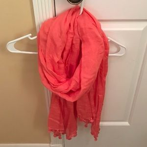 J Crew coral scarf✨LIKE NEW✨